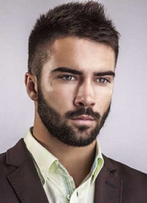 Mens Short Dark Casual Haircuts