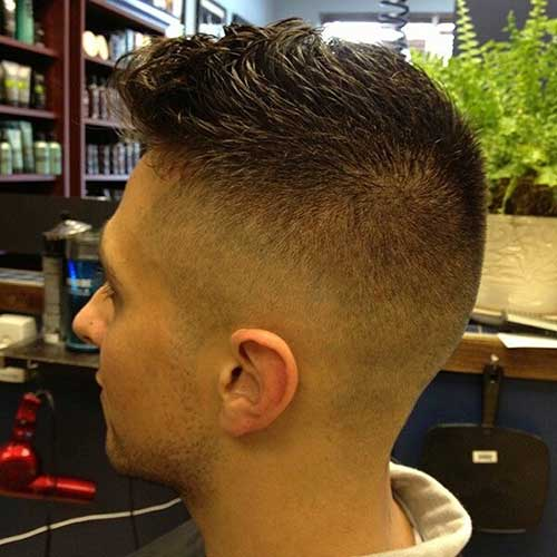 Mens court Faded Cuts Coiffure