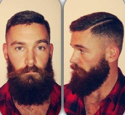 Hommes court de bois de style coupe de cheveux