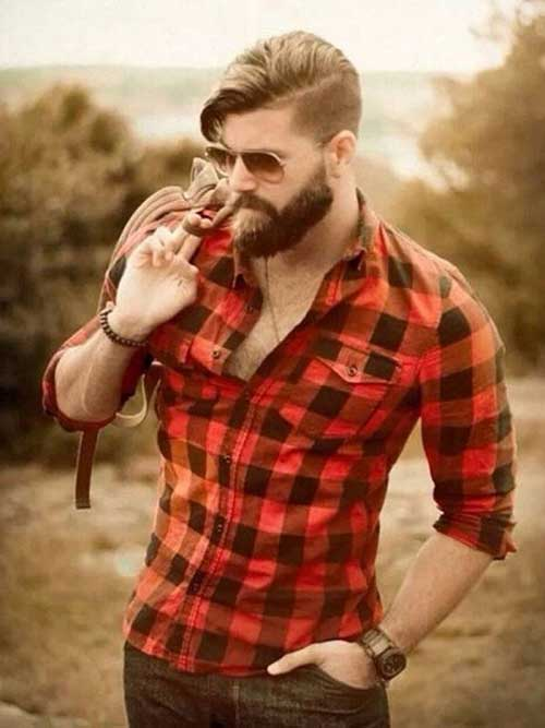Mens court Lumbersexual Haircut