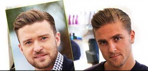 Style de Mens court Pompadour Haircut