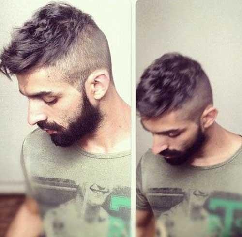 Hommes courtes coupes de cheveux de style Undercut