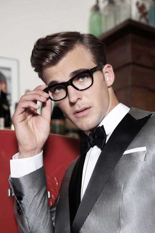 Mens Side Swept Straight Rockabilly Hairstyles