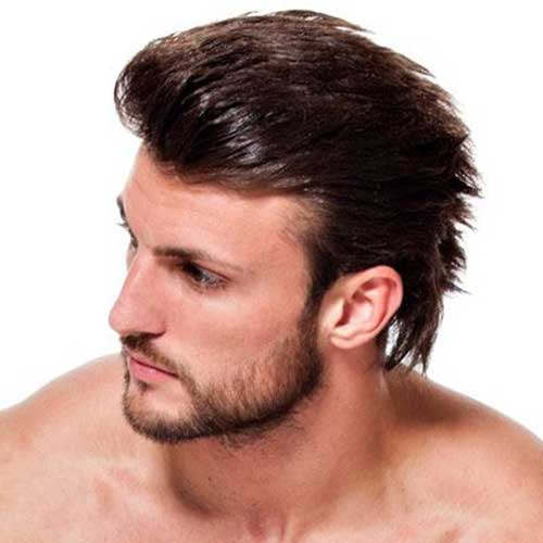 Mens Slicked Back Casual Hairstyle