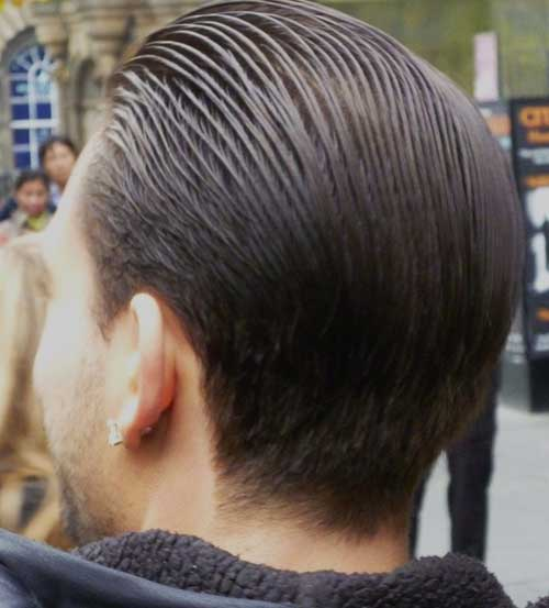 Mens Slicked Back Hairstyle Look