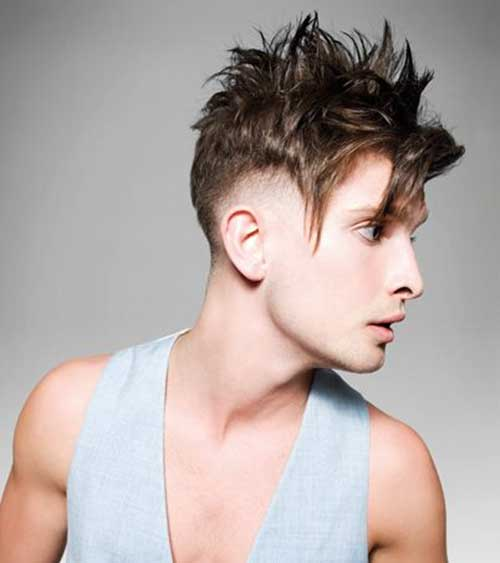 Mens Spiky Hairstyles Short Sides Long Top