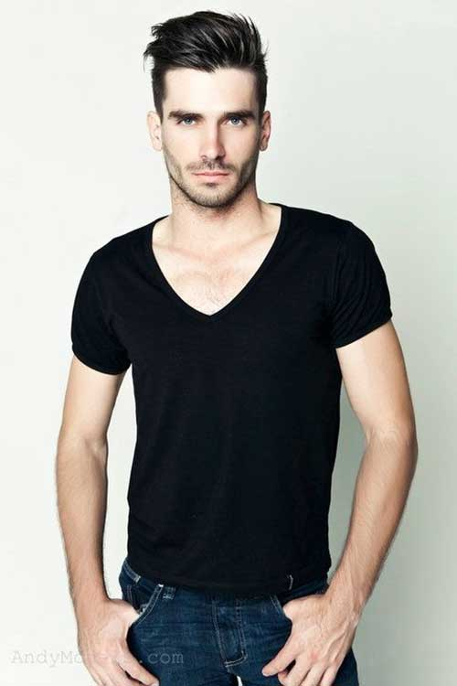 Mens Straight Style Haircut Ideas 2015