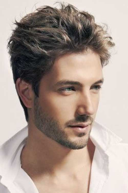Mens Wavy Short Hairstyles