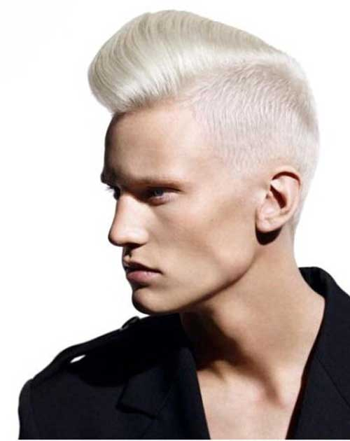 Platinum Mens Haircuts Idea Short On Sides Long On Top