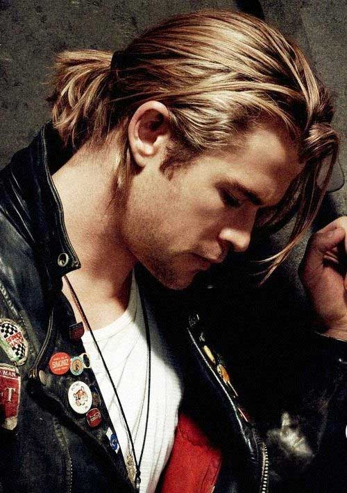 Ponytail Blonde Hairstyles for Men
