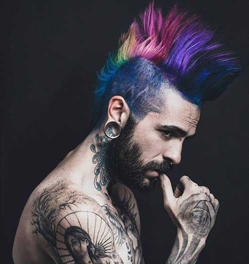 Punk Colorful Hairstyles Guys Ideas