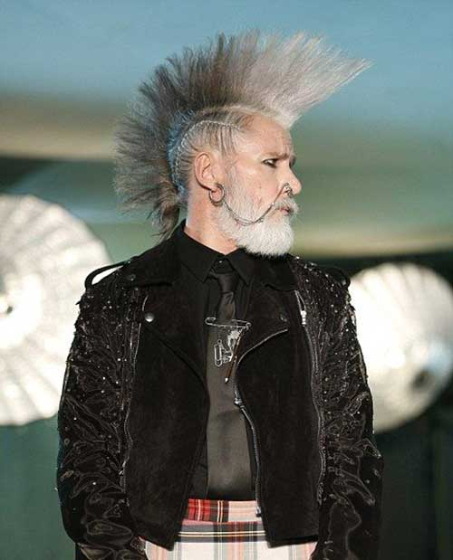 Punk Grey Hairstyles Ideas Guys