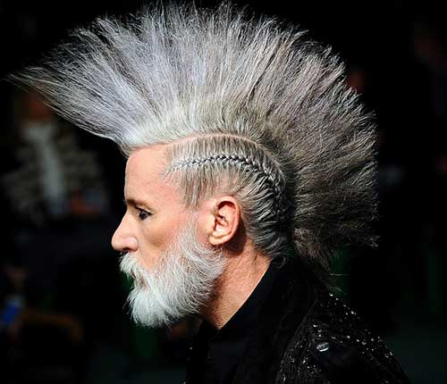 Grey Punk Hairstyles Guys