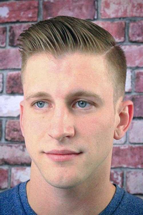 Shaved Sides Pompadour Men Haircut