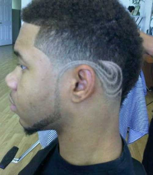 Short Faded Haircuts Side View for Black Men
