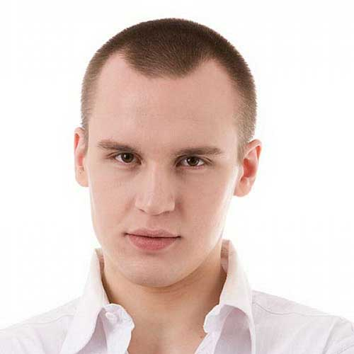 Short Shaved Hairstyles for Round Faces Men