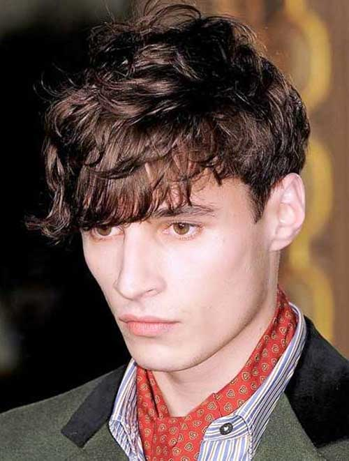 Short Side Long Wavy Top Hairstyles for Guys Ideas