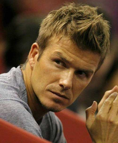 David Beckham Short Spiky Hair for Guys