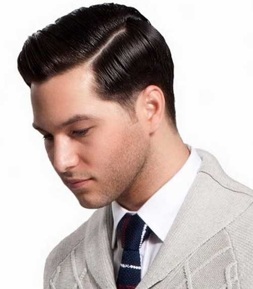 Slicked Hairstyles for Guys with Round Faces