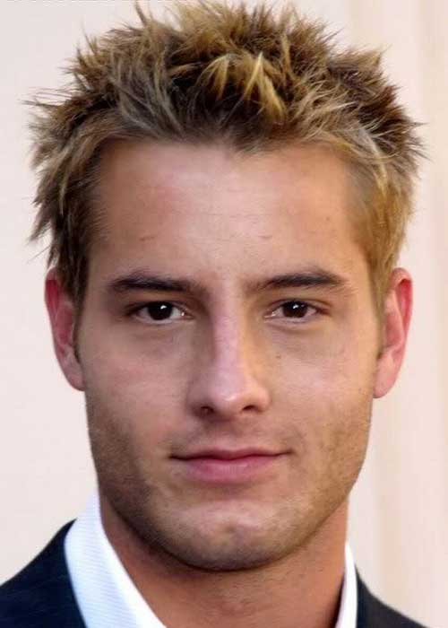 Spiky Blonde Hair Cut for Guys