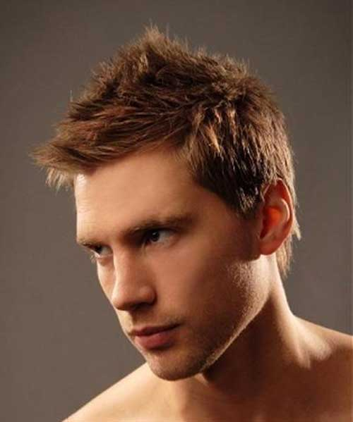 Spiky Brown Haircut Style for Guys