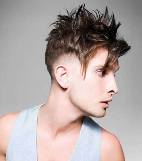 Spiky Hairstyles with Undercut for Guys