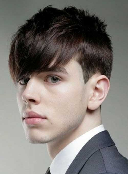 Straight Bangs Haircuts for Teenage Guys