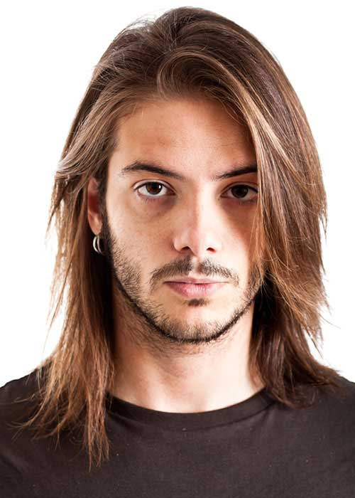 Straight Long Haircuts Ideas for Guys