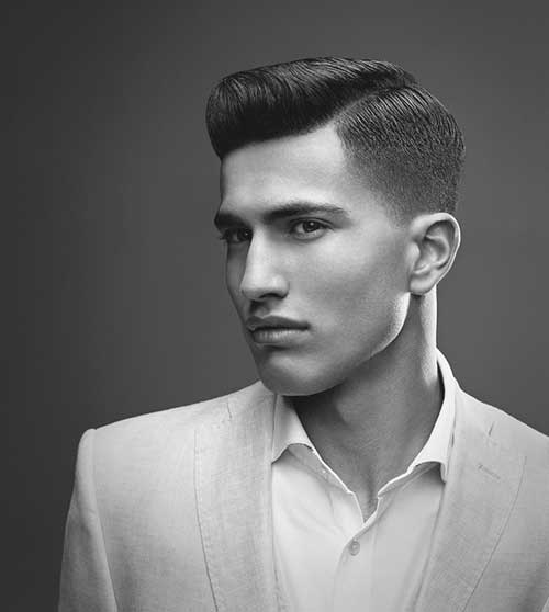 Stylish Mens Haircut Shaved Sides Look