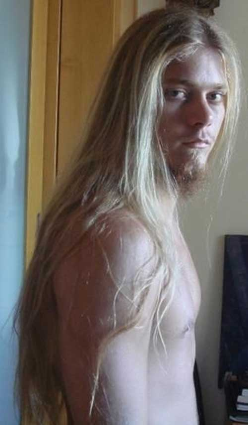 Very Long Blonde Hair Guy Idea