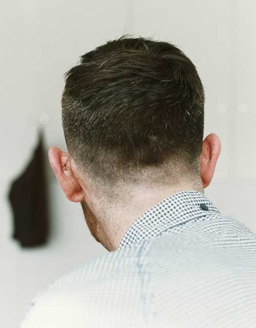 Very Short Hairstyles Men Back View