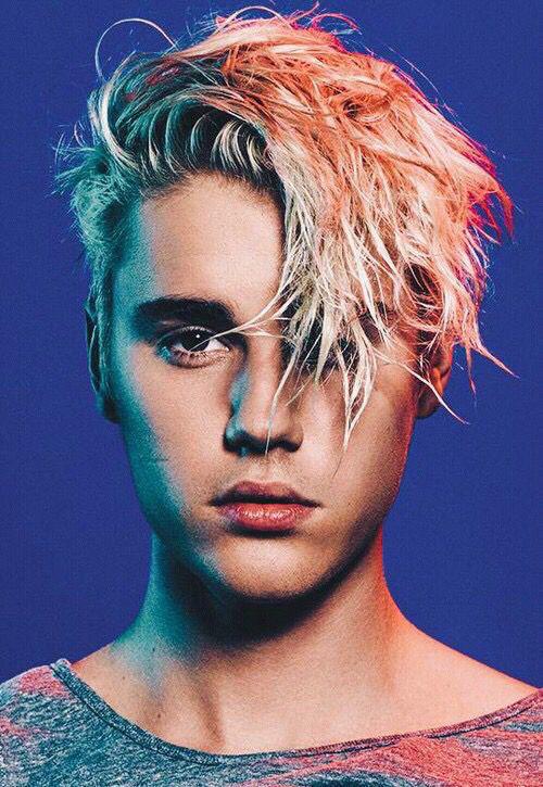 Justin Bieber Dyed Hair