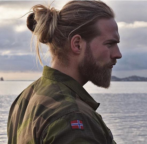 how to get a man bun with short hair
