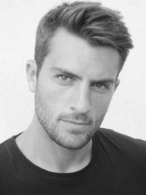 Short Haircuts for Men with Trimmed Beards