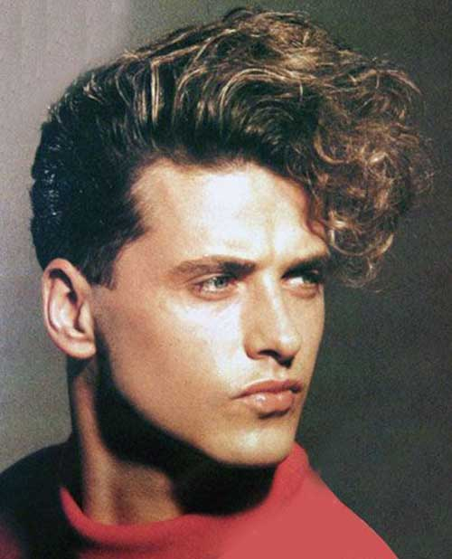 80s Style Mens Fringe Curly Hairstyles