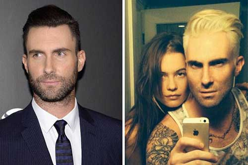 Adam Levine Blond Hair 2014