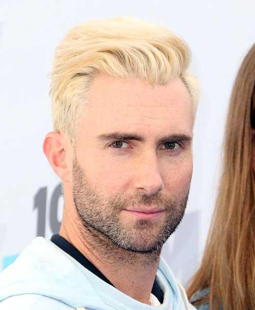 Adam Levine Blonde Hairstyles 2014