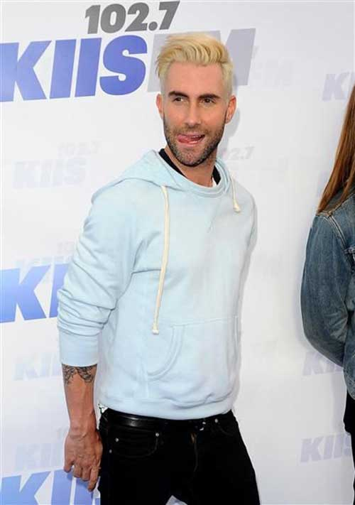 Adam Levine Cute Blonde Hairstyles 2014