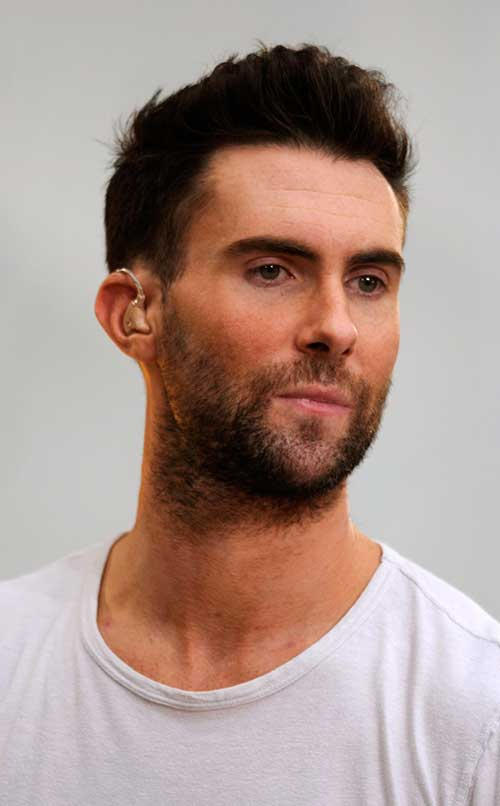 Adam Levine Short Hair and Beard Style
