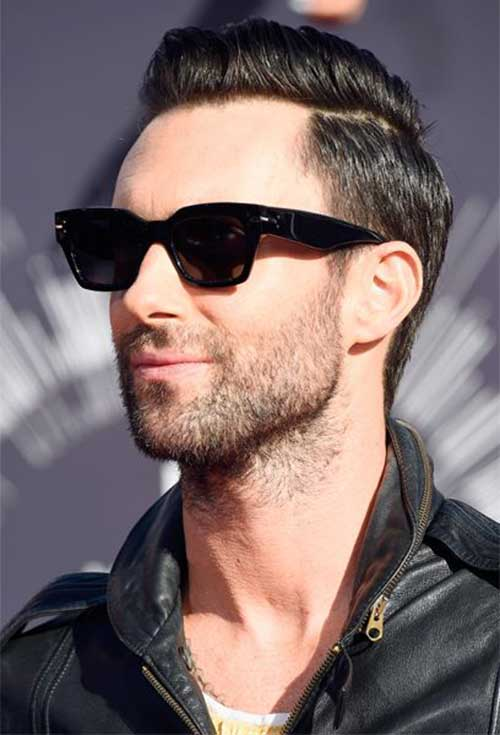 Adam Levine Side Swept Short Hair