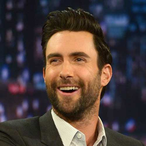 Adam Levine Slicked Short Hair 2014