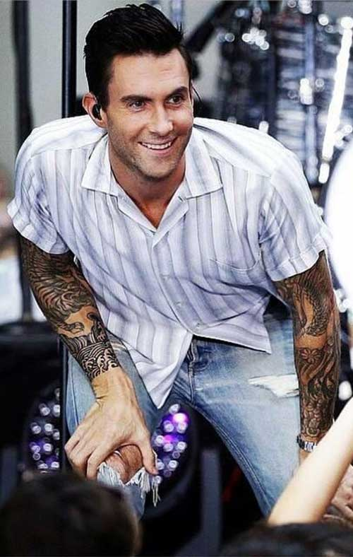 Adam Levine Stylish Hairstyles 2015