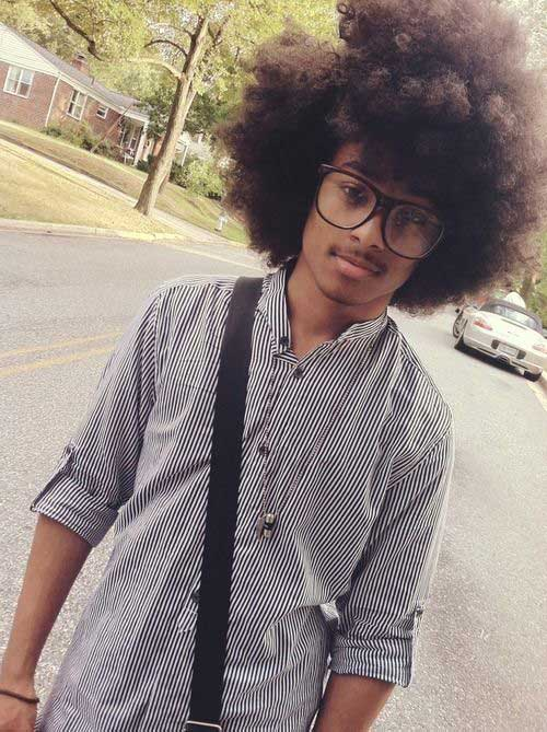 Afro Curly Hairstyles for Black Men