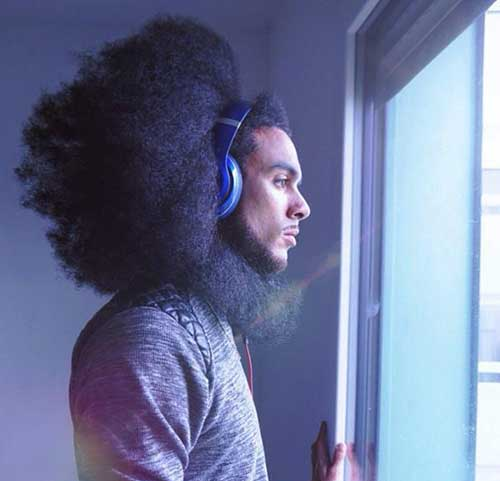 Afro Style Black Men Long Hair Ideas