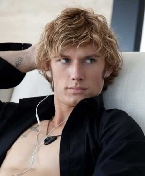 Alex Pettyfer Wavy Hair