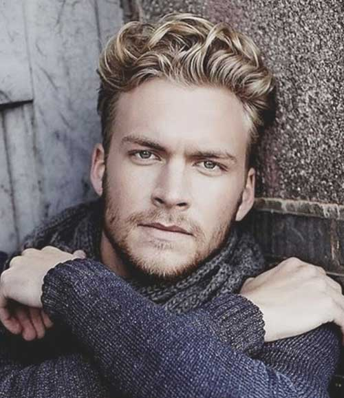 Blonde Curly Hair Colour Ideas for Men