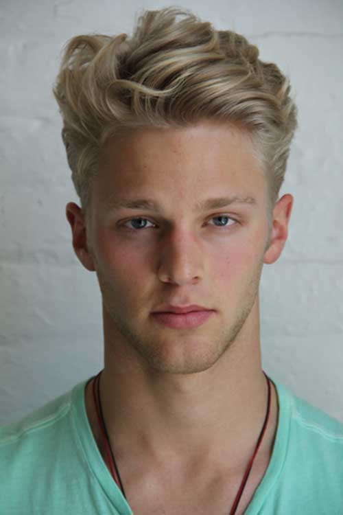 Blonde Haircut Idea for Men