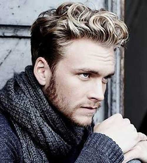 Blonde Wavy Hairstyles for Men