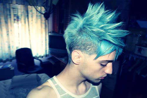Cool Blue Hair Color Styles for Guys