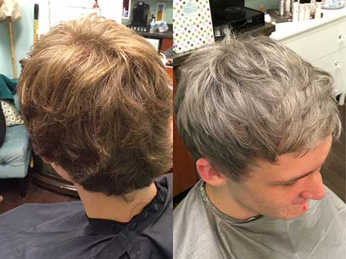 Cool Grey Hair Color for Guys